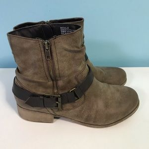 Rosalie Distressed Ankle Boots
